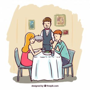 hand-drawn-romantic-dinner-scene_23-2147650473